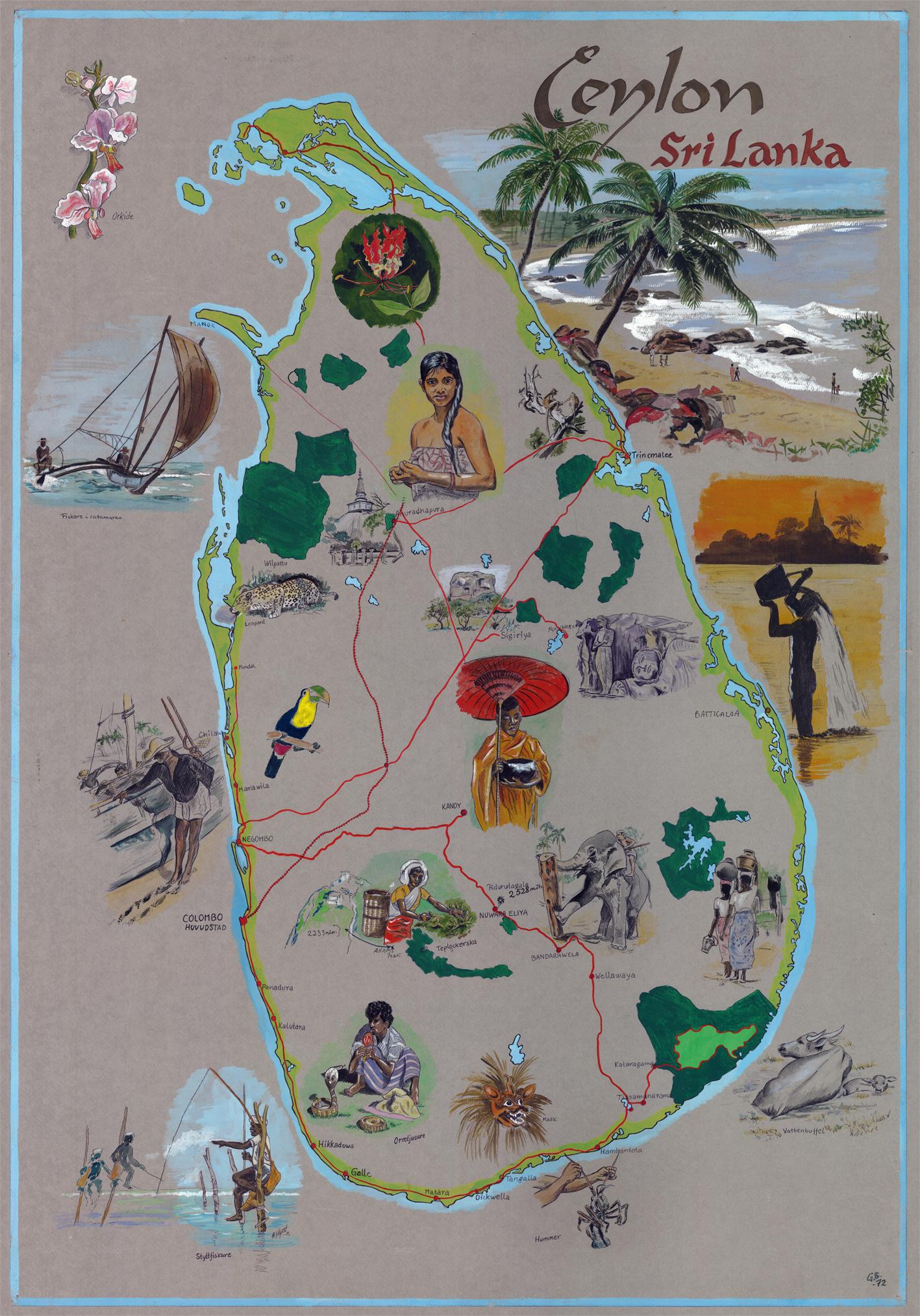 Gouache - Sri Lanka